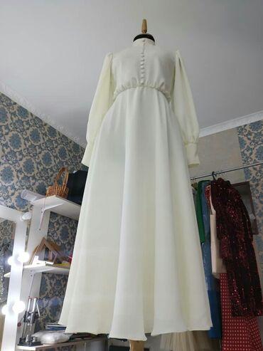 как заказать платье в Кыргызстан: Платье на Кыз узатуу Очень нежный дубайский шелк. Сшито на заказ. Цвет