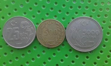 İdman və hobbi İmişlida: Продаются Турецкии манеты 25BIN LIRA 1997г,5000LIRA1992год,500LIRA