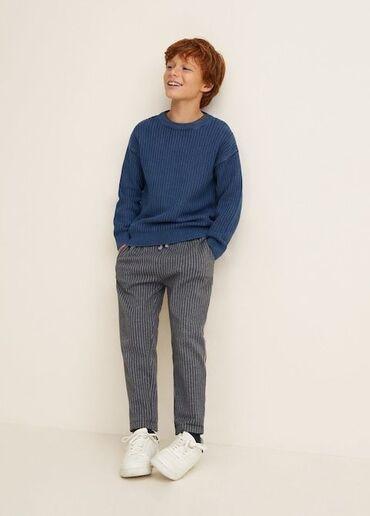Крутые *Zara* штаны-джоггеры для мальчика.Серые в тонкую полоску