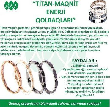 """""""Müalicəvi Titan Maqnit Qolbaq""""-Tam Təbii,Zərərsiz,Alergiya-Qaşınma"""