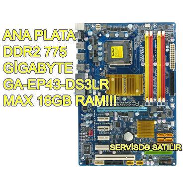 Ana Plata Gigabyte GA EP43 DS3LR İşlənmiş! Qiymət - 45 AZN, SONDUR!