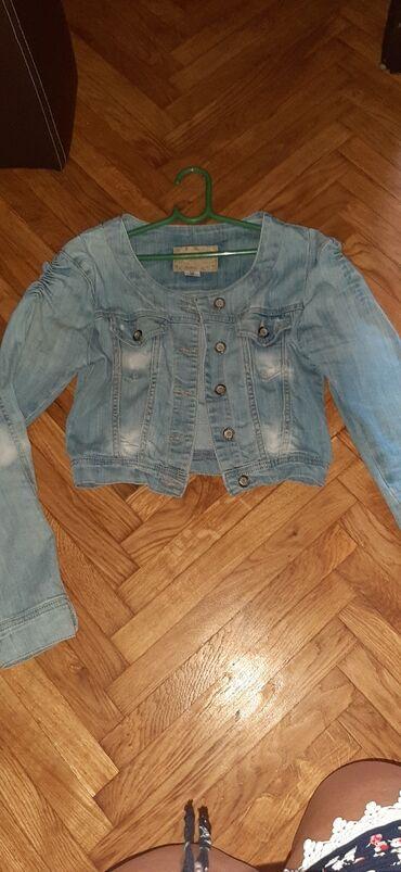 Jakne zenske - Srbija: Zenska teksas jaknica broj 29. Koriscena. Ocuvana