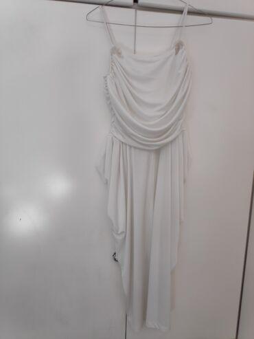 Λευκό φόρεμα με ασημί λεπτομέρειες