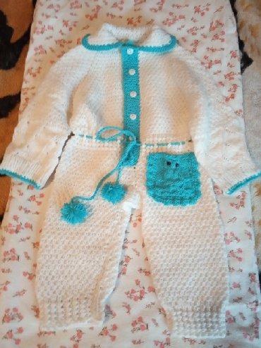 детская одежда оптом от производителя из киргизии в Кыргызстан: Комбинезончик ручной вязки,из детской пряжи
