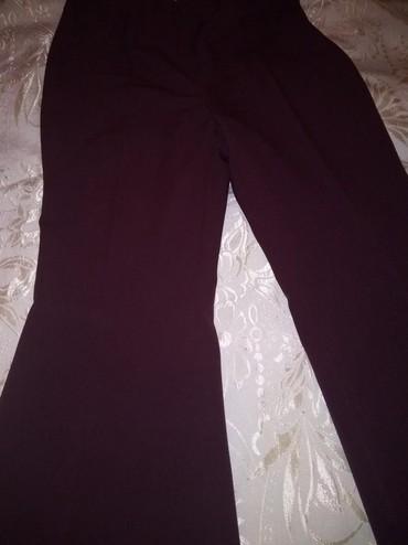 женские брюки с высокой посадкой в Азербайджан: Брюки трапеция  цвет бордовый