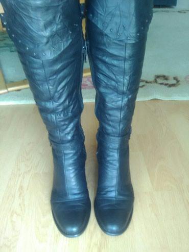 Kozne nalozene cizme ocuvane.vel.38 - Bajina Basta
