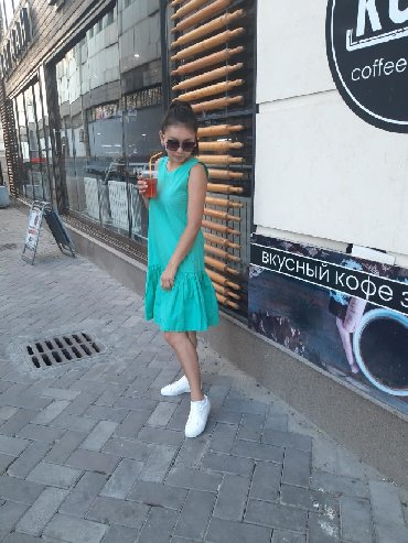 Милое платье очень красивого цвета. 100% хб, не линяет, не