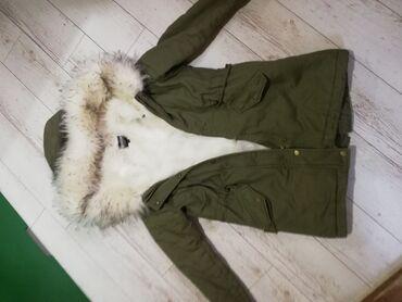 Zenska decija - Srbija: Original zenska jakna Parka Bez mana nosena par puta kao nova, velicin
