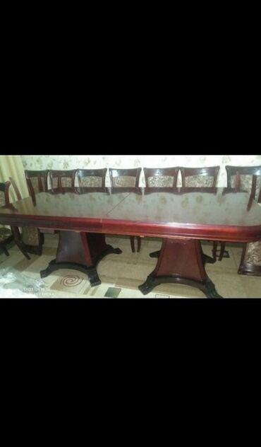 т т к н 2 класс в Кыргызстан: Стол с 15ю стульями в отличном состоянии в складном состоянии 2 м в