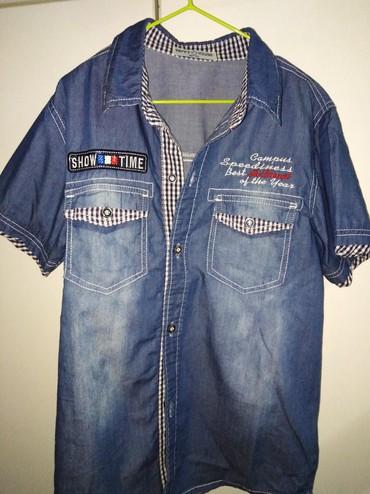 Dečija odeća i obuća - Uzice: Teksas kosuljica dečija,nosena 500 din