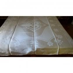 Κουβέρτα λευκή διπλή ( αχρησιμοποίητη )Δεν γνωρίζω το υλικό