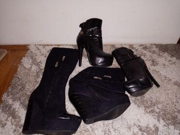 Čizme - 2 para zenskih čizmi 37 broj za 2000 dinProdajem zenske čizme