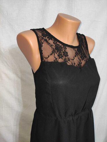 Haljina materijal elastin - Srbija: Cipksta crna haljina   Nošena jednom  Dekolte je u obliku srca  Materi