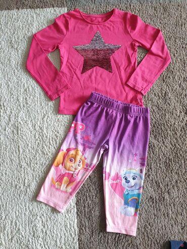 Beba kids majica i Disney 3/4 helanke vel 110 (5 god). Bez ikakvih