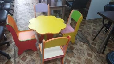 uşaq masaları - Azərbaycan: Usaq bagcalar ucun masa desti 200 azn seher daxili catdirilma
