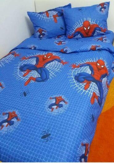 Decija pamucna posteljina spajdermen komplet sadrzi 1 jastucnicu 50x70