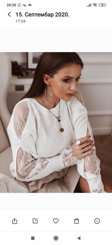 Ženska džemperi - Srbija: Sniženjeeee. Novooo. Džemperi-bluze sa čipkanim rukavima. Uni