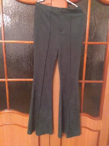 мужские черные брюки в Кыргызстан: Брюк, новый,цвет хакки, клёш