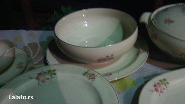 Prelepi porcelanski set, za ručavanje..  Set čine dve činije za čorbic - Cuprija - slika 4