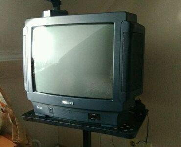 Цветной телевизор Philips Германия с пультом все работает есть ресивер