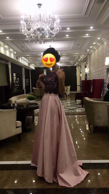 Платье-двойка сшитое из дорогого материала на заказ, размер хс-с