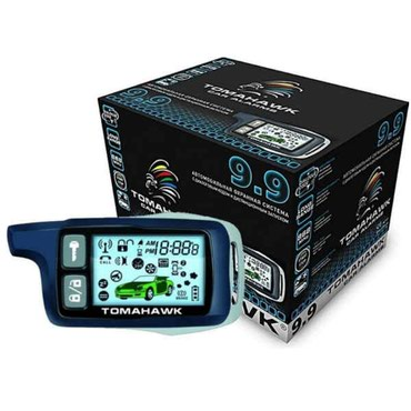 пульт дистанционного управления на айфон в Кыргызстан: TOMAHAWK 9.9 Автосигнализация с автозапуском двигателя