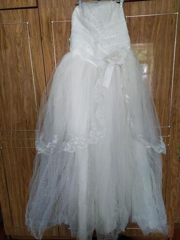 Свадебное платье из России. Размер 44-46