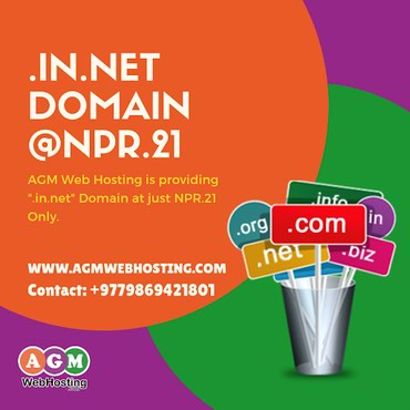 "Book your "".IN.NET"" Domain Today at Just @NRs. 21 Only - AGM Web in Kathmandu"