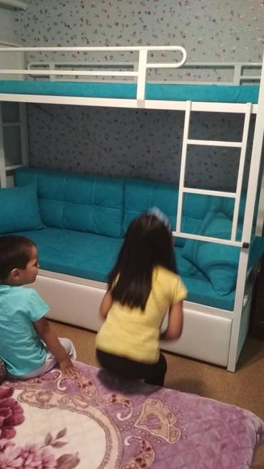 Другие кровати в Кыргызстан: 2х ярусная кровати,на заказ и в наличие,цвет металла и ткань рацветки