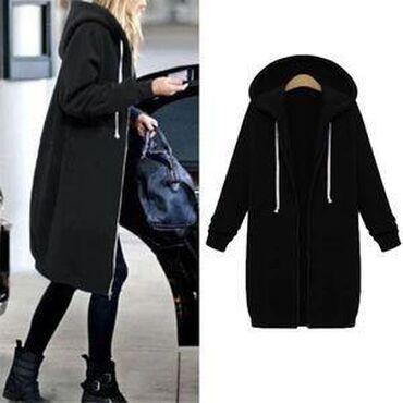 Duks nov xl - Srbija: Duks jaknica na sniranje, Nova. Odgovara XL, XXL dužina 95cm, obim