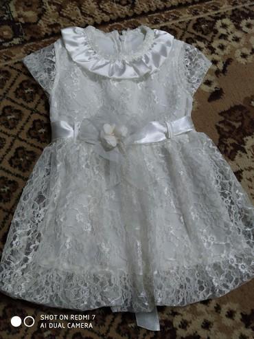 платье для мамы и дочки на годик в Кыргызстан: Нарядное платье на 1 годик Турция,в отличном состоянии отдам за 300