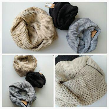 Беретка вязанная - Кыргызстан: Шарф- снуд очень теплый, красивый, прекрасно сочетается с одеждой