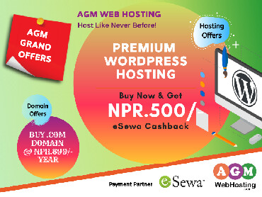AGM Web Hosting is the most popular and highest rated WordPress in Kathmandu