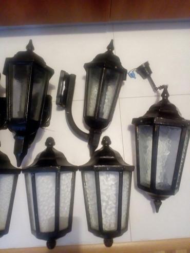 Kuća i bašta | Crvenka: Fenjer - lampion liveni od cvrstog materijala, veci, kvalitetni bez