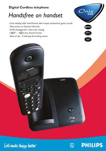 Philip Onis 200 bezicni telefon baza puni slusalicu samo da se stave p