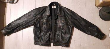 Muske kozne jakne - Srbija: Muska kozna jakna vel L,na skroz gornjem dugmetu fali deo tamno braon