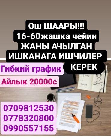 ош квартира берилет in Кыргызстан   БАТИРЛЕРДИ УЗАК МӨӨНӨТКӨ ИЖАРАГА БЕРҮҮ: 17 жаштан 67 жашка чейинки жарандарга туруктуу жумуш берилет. Узак моо