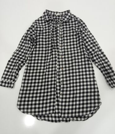 Рубашка в клетку, детская, для девочек, 11-12 лет, турецкая