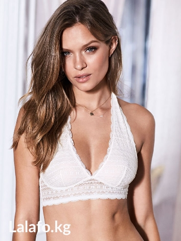 victoria-secret-bra в Кыргызстан: Victoria's Secret Long line halter bralette. цвет coconut white