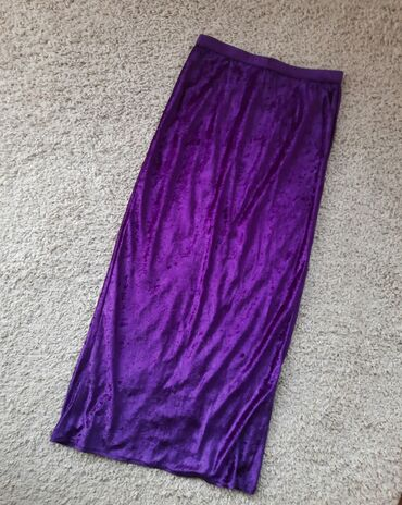 Suknje - Srbija: Purple duga plisana suknja slim fit duboki struk. Veličina XS. Prelepa