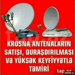 IT, internet, telekom Bakıda: Krosnu ustası Krosnu ustası peyk anten ustası Peyk antenlari qurulması