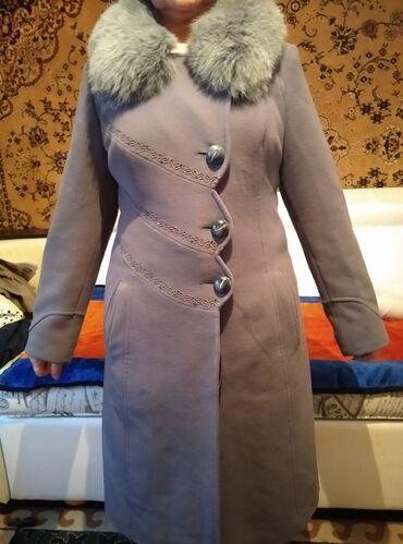 Пальто - Размер: M - Бишкек: Кашемировое пальто с натуральным мехом. Зима турция