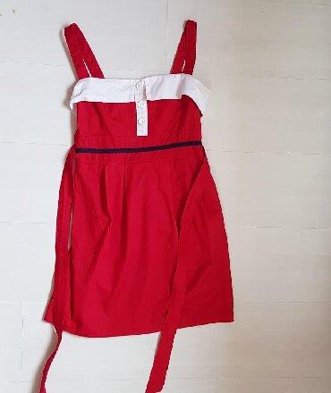 Crvena-haljina-marke - Srbija: Crvena haljina M Polubim grudi je 35cm ( iza je deo koji se rasteze) D