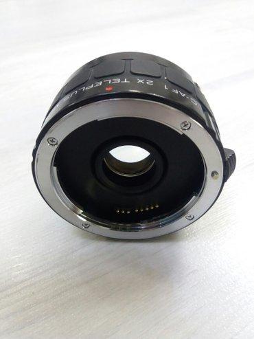 Bakı şəhərində Canon EF obyektivləri üçün fokus məsafəsini 2 dəfə artıran adapter. Av