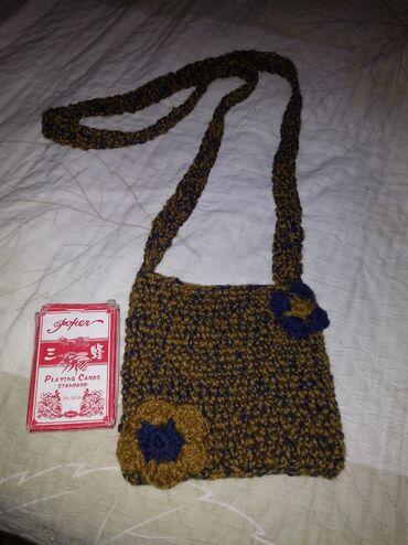 купить женскую обувь недорого в Кыргызстан: Продаю женскую вязаную сумочку ручной работы, цвет хаки
