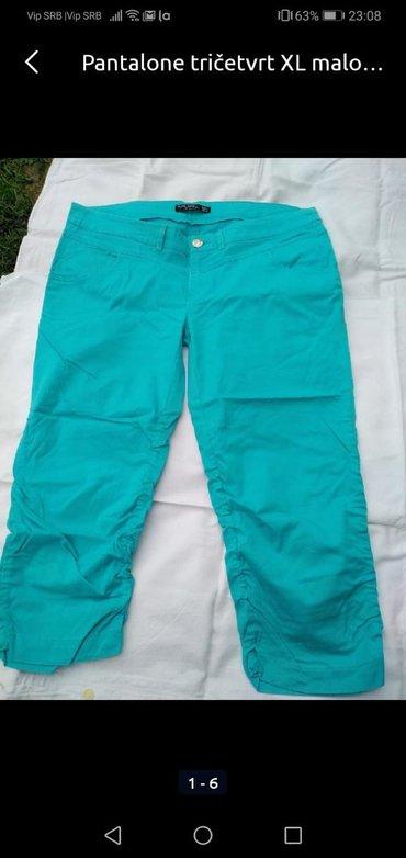 Pantalone XL tirkiz boja, kao nove