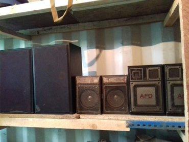 колонки, магнитофоны,проигрыватели и другое... аппаратура в рабочем и  в Бишкек