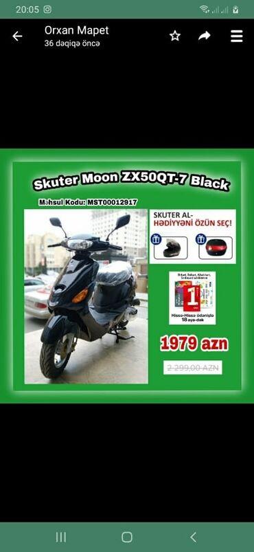 Motosiklet və mopedlər - Azərbaycan: Mopedlar kreditle☑️ İlkin ödəniş☑️ Zaminsiz☑️ Arayışsız ☑️ Yalnız