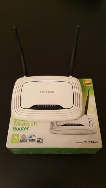 Bakı şəhərində Fiber optik internet xətti üçün Tp-link WR841N router, naqilsiz