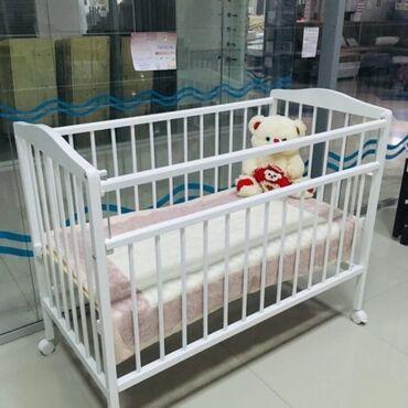 В наличии Детская кроватка колесо качалка Размер 120*60